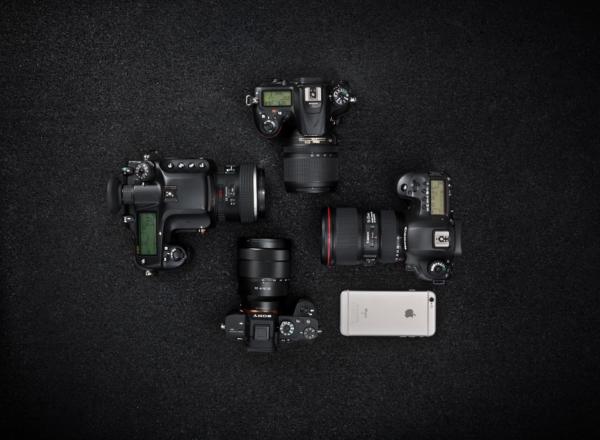 Kamera Gruppenbild - Pentax - Sony - Canon - Nikon - Apple