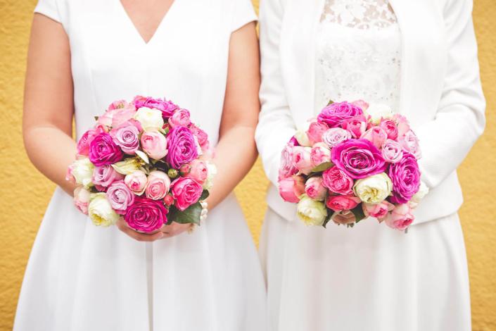 Zwei Brautsträuße