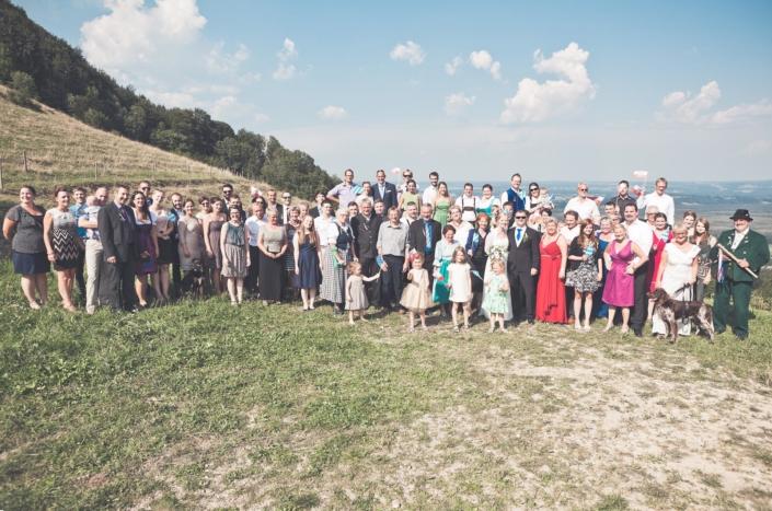 Hochzeitsgruppenbild