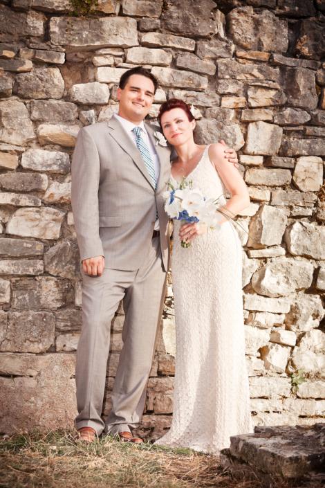 Hochzeit, Braut, Bräutigam, Hochzeitsfeier, Trauung, Kroatien, Pulla, Amphitheater