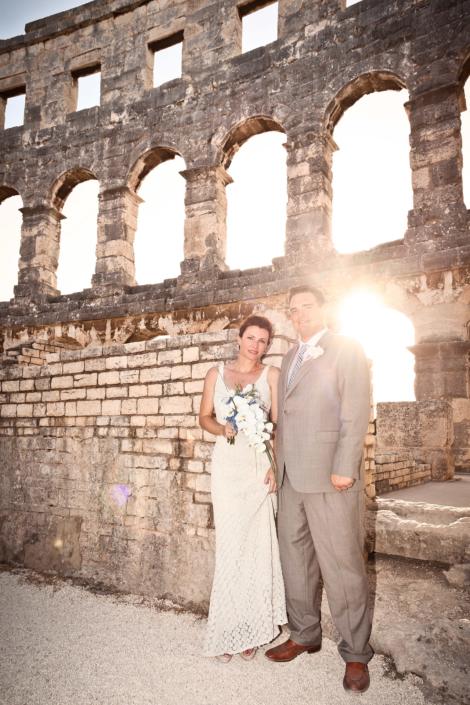 Hochzeits Zeremonie Kroatien, Hochzeitsfeier, Trauung, Pulla, Amphitheater