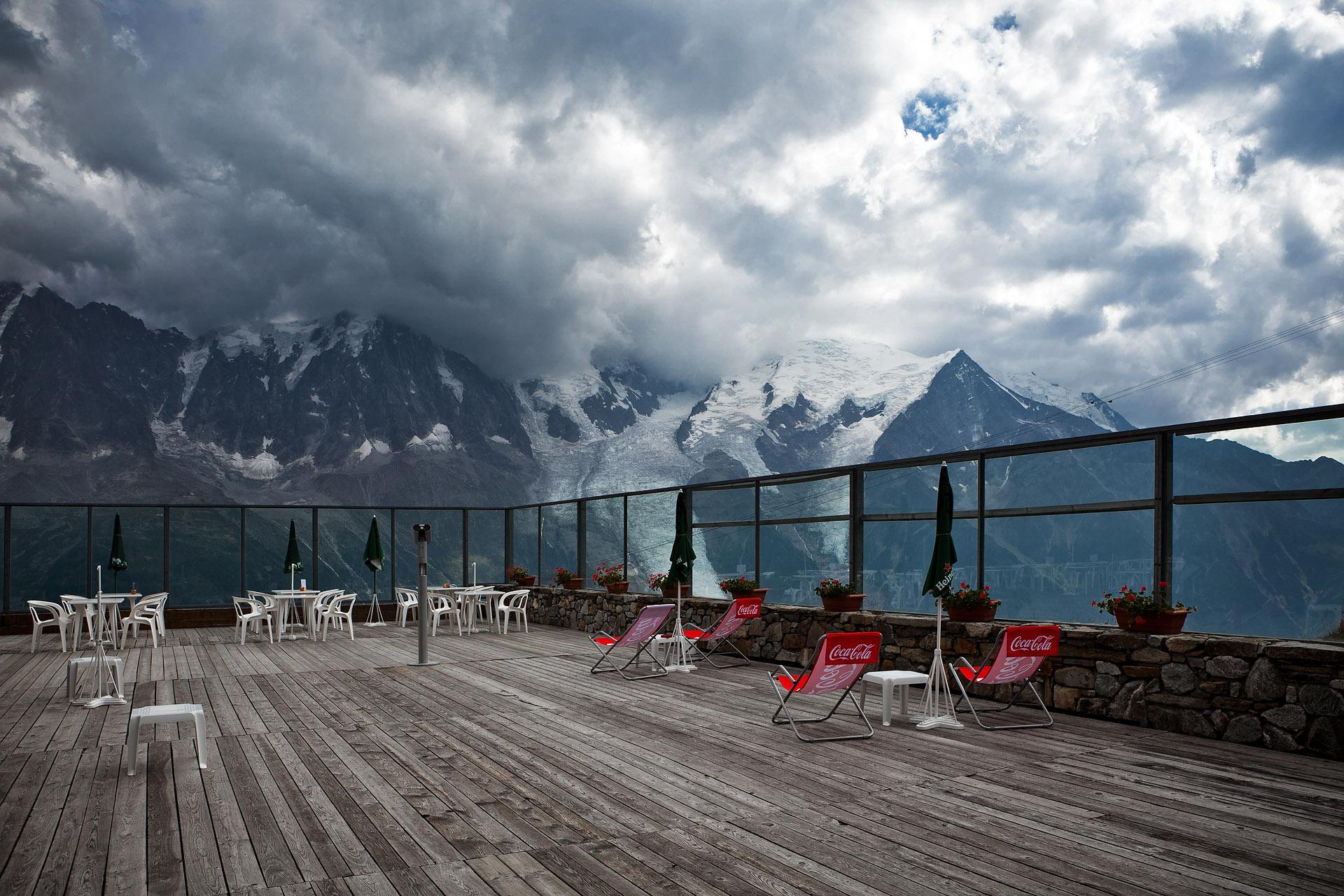 Wolken Berge Terrasse