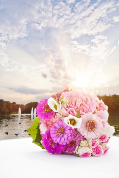 Hochzeit Michaeligarten Brautstrauß